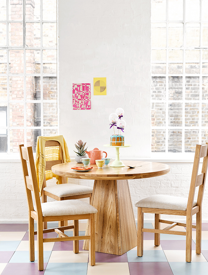 Provence table and farmhouse dining chairs