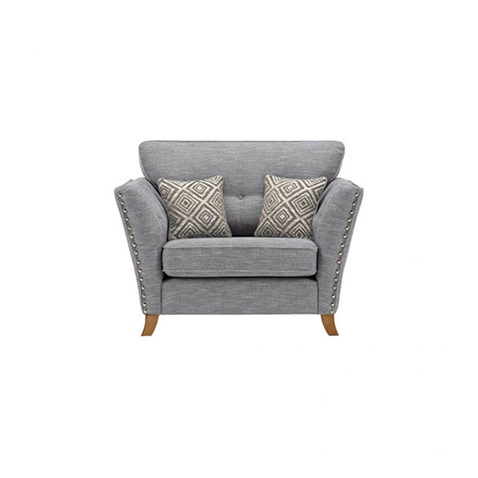 Grosvenor Love Seat in Blue