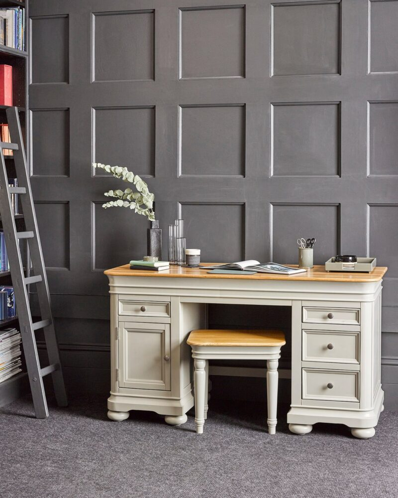 Brindle grey painted furniture office