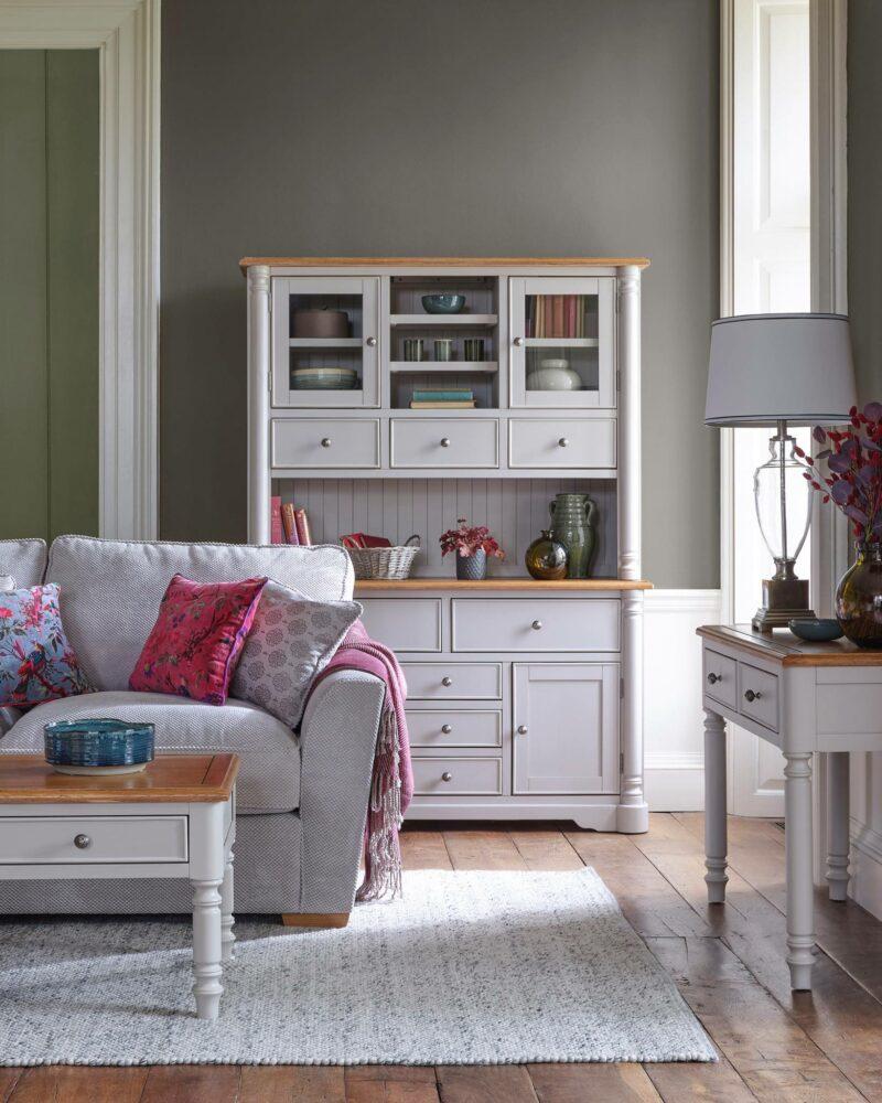 Roman grey painted furniture living room