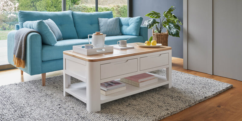Hove white coffee table