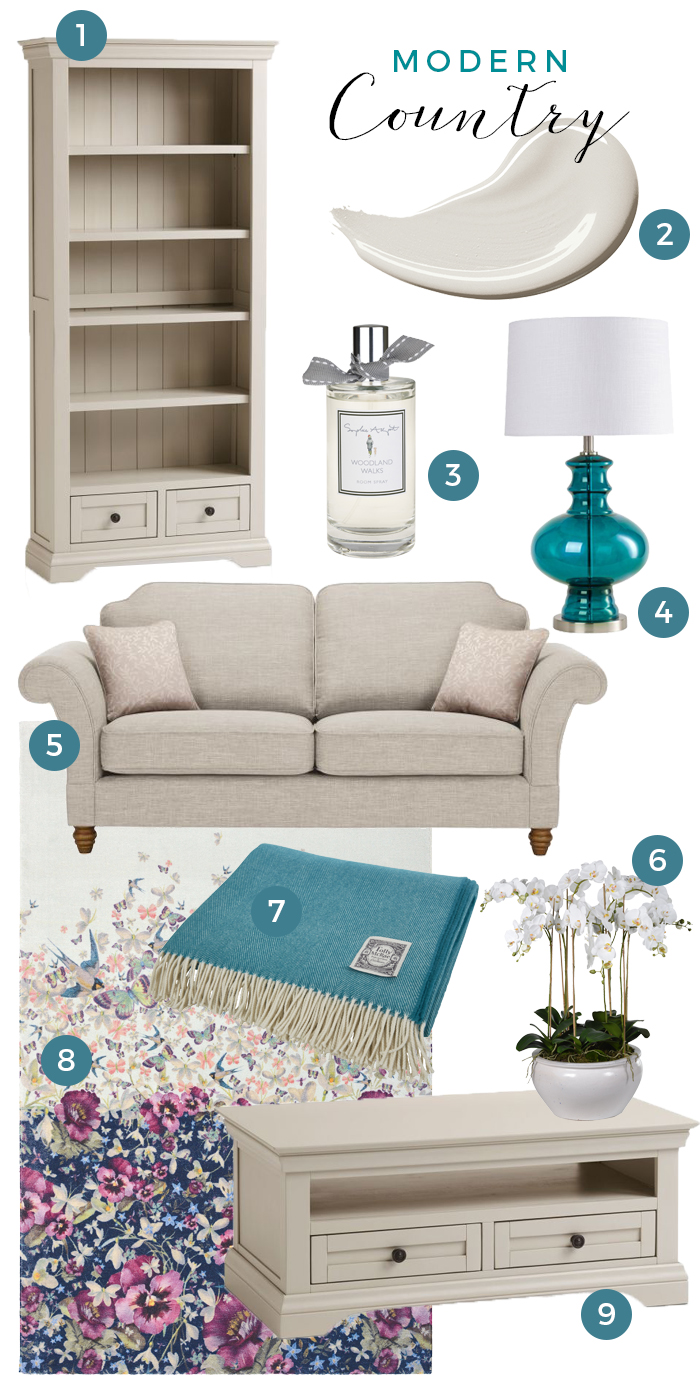 Arlette modern country collage