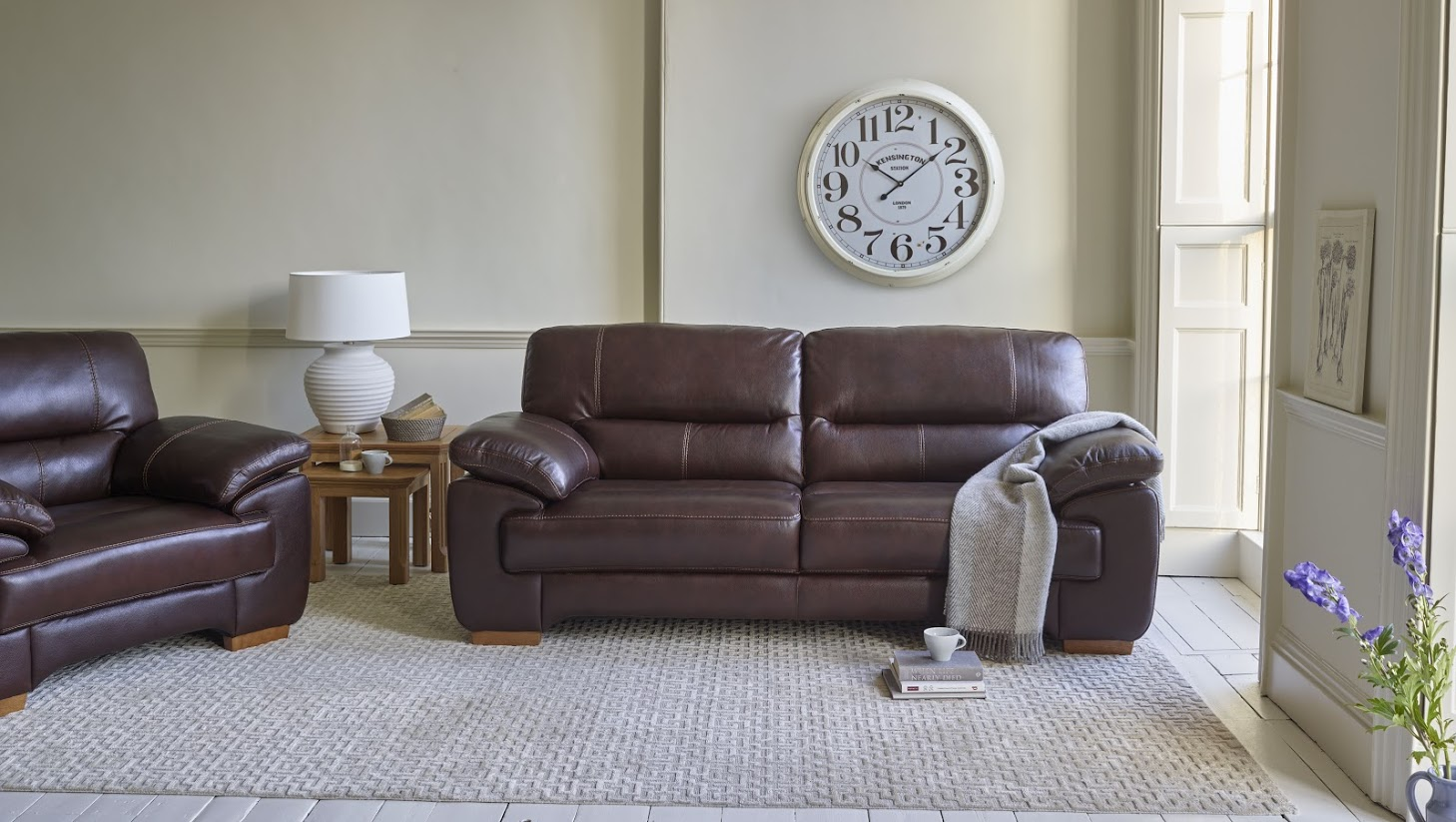 Oak Furnitureland Clayton Leather Sofa