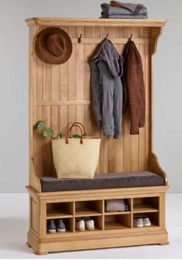 Wooden hallway stand