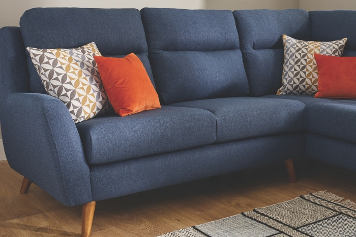 navy blue Fraser sofa