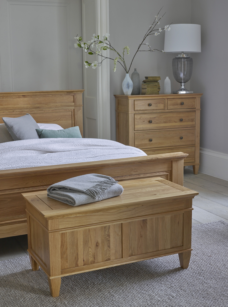 Classic Bedroom Furniture with grey toned accessories