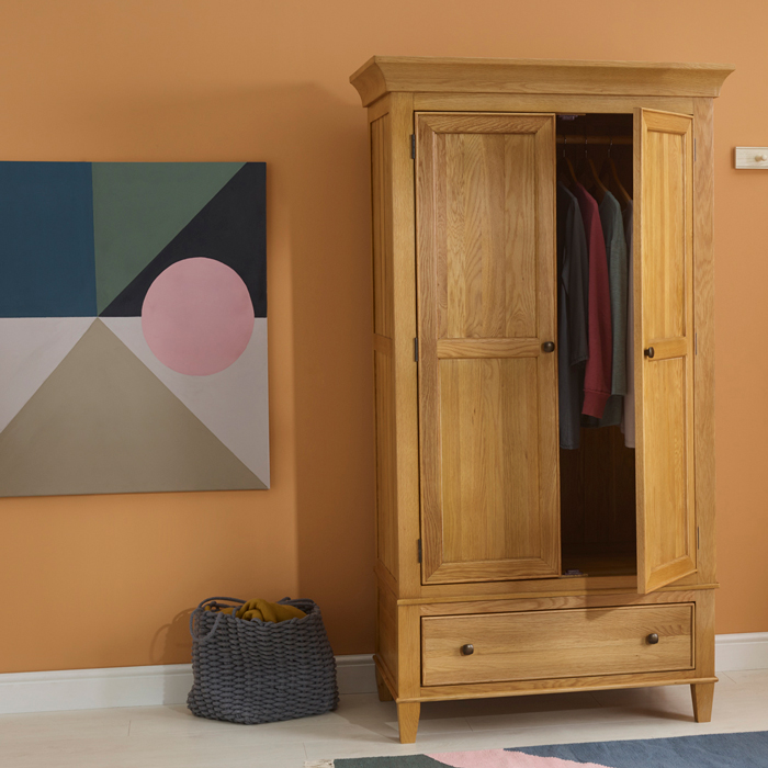 Classic Double Wardrobe & abstract painting