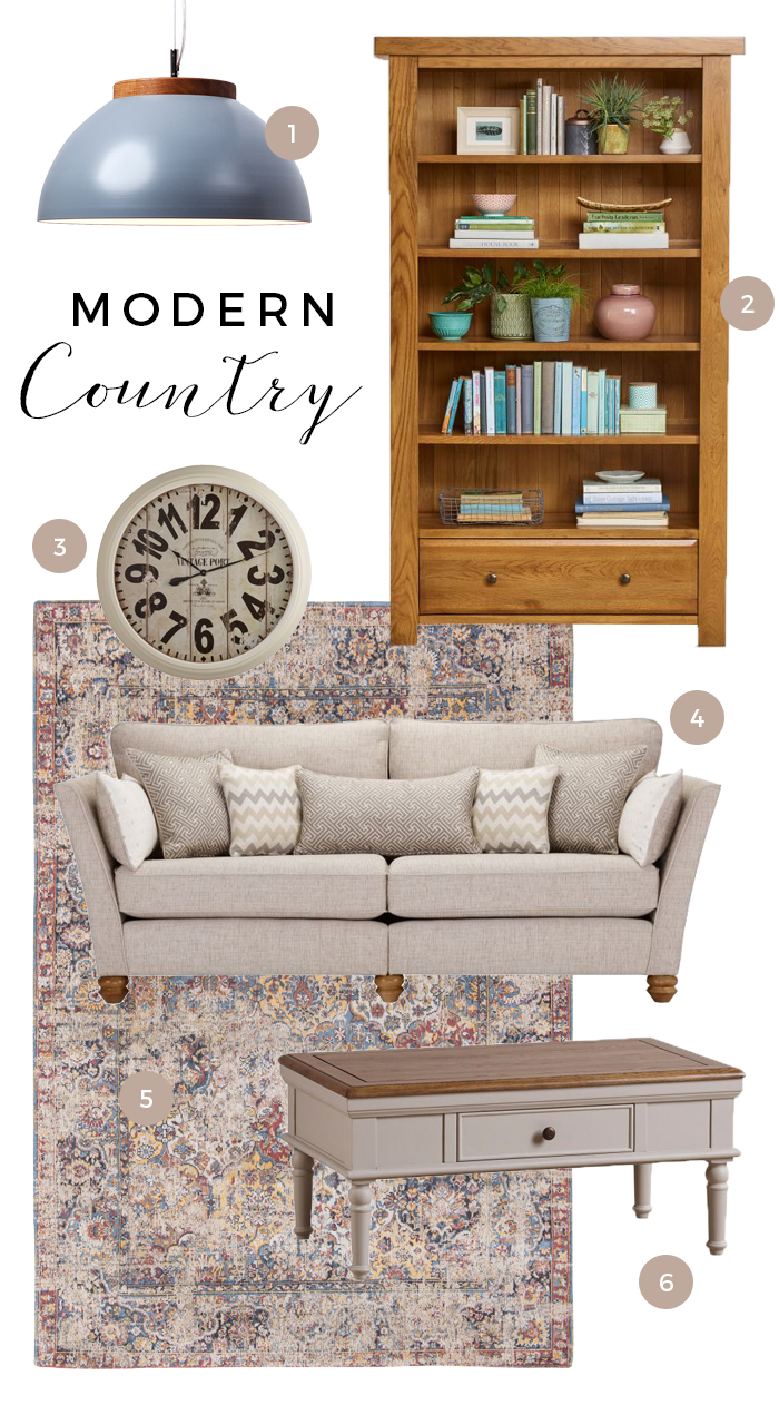 Country Style Furniture Moodboard