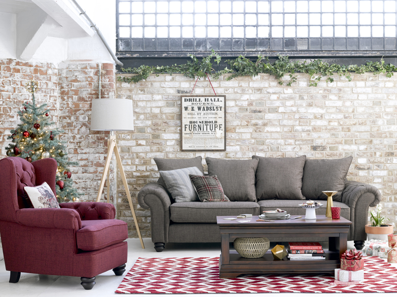 Christmas Themed Living Room