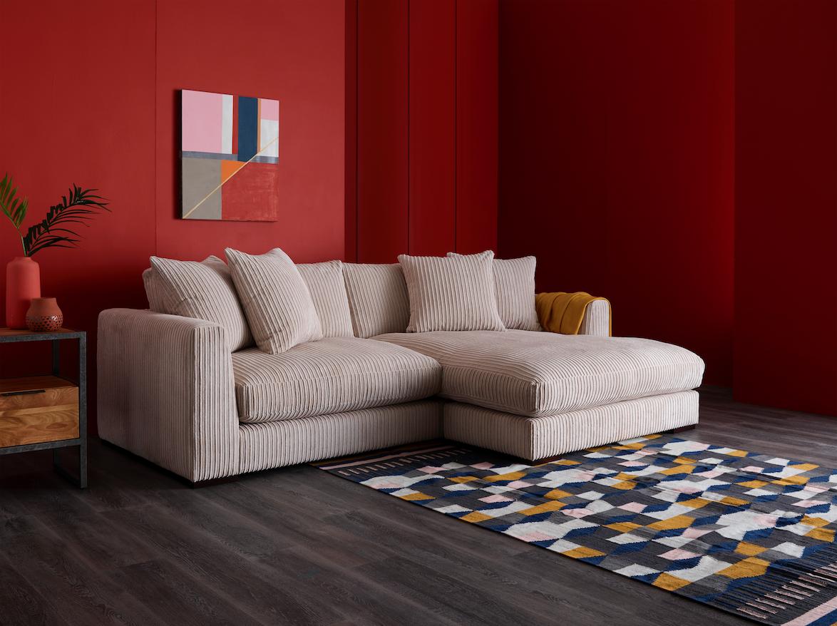 Sasha Cord Sofa Oak Furnitureland