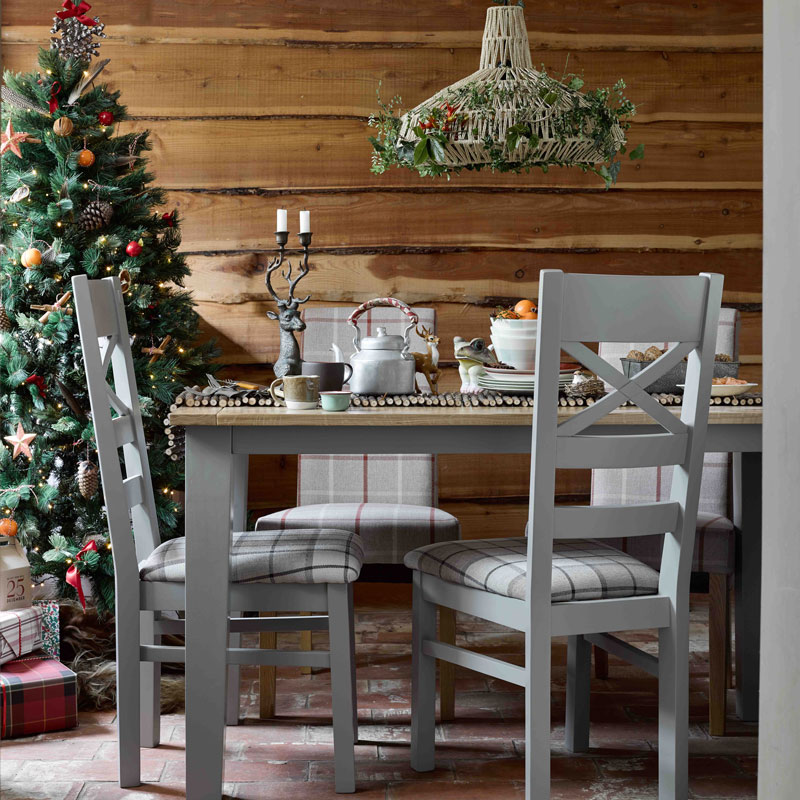 St Ives Dining Table and Chairs in a Christmas scene