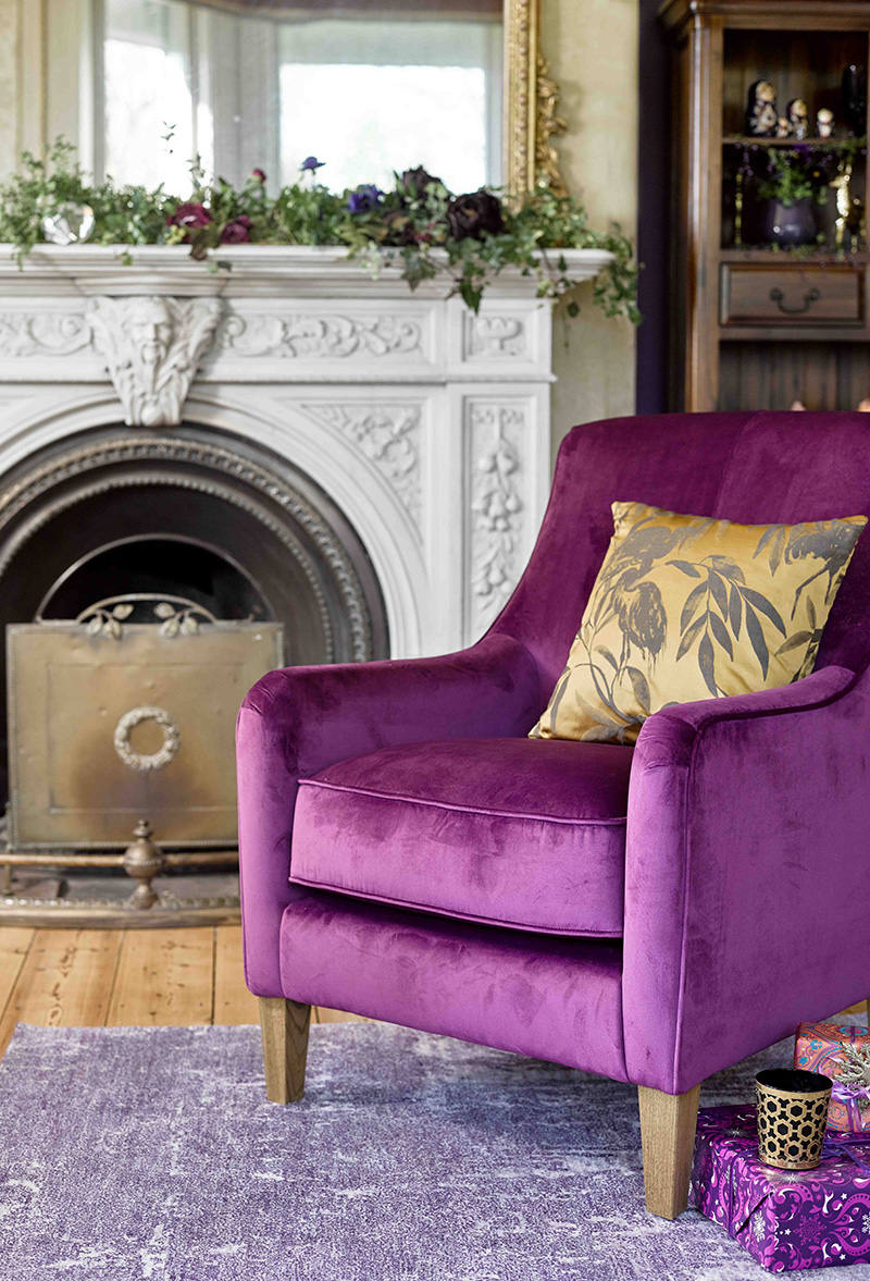 Sydney Accent Chair in amethyst