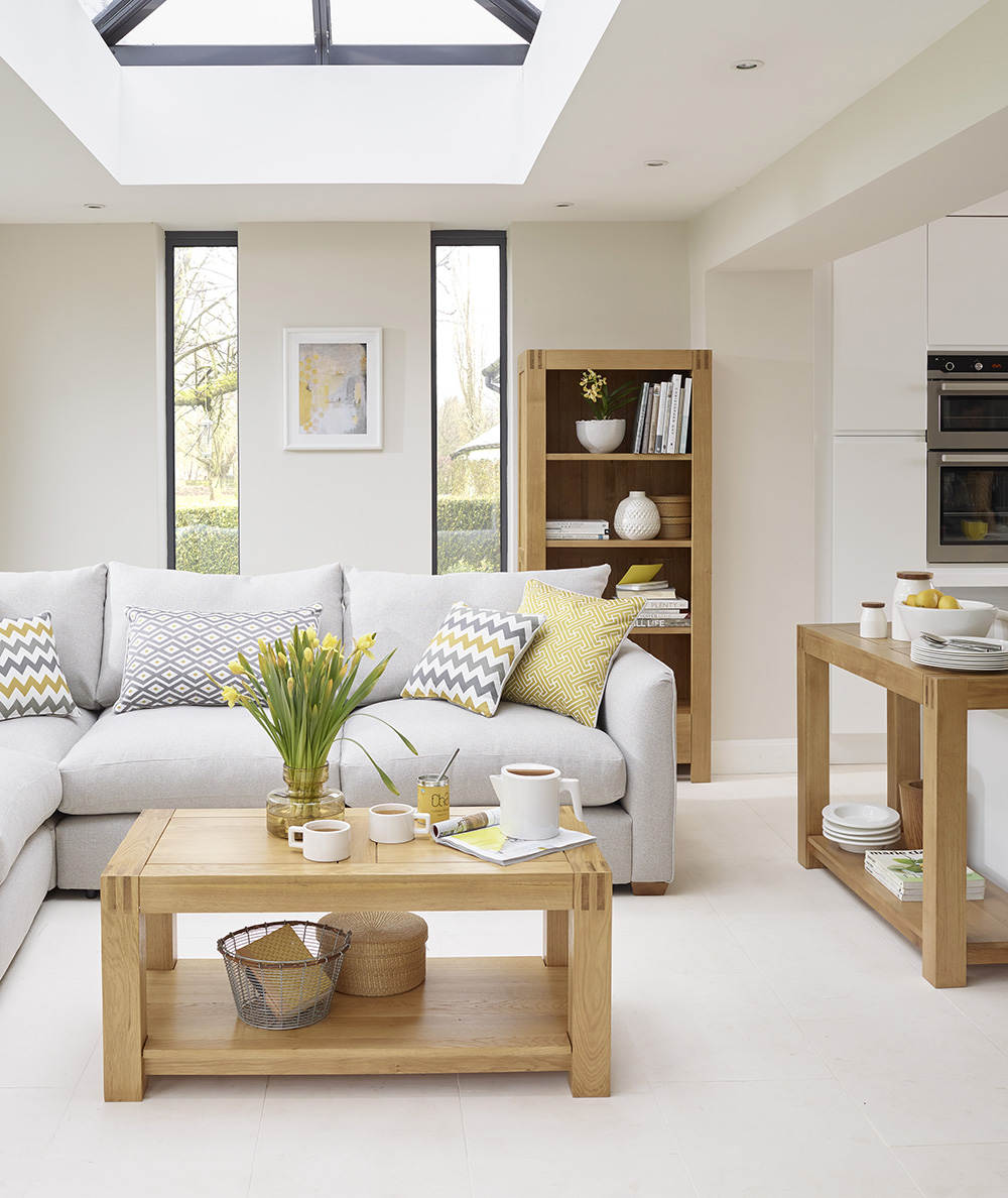 Alto Living Room furniture, yellow colour scheme