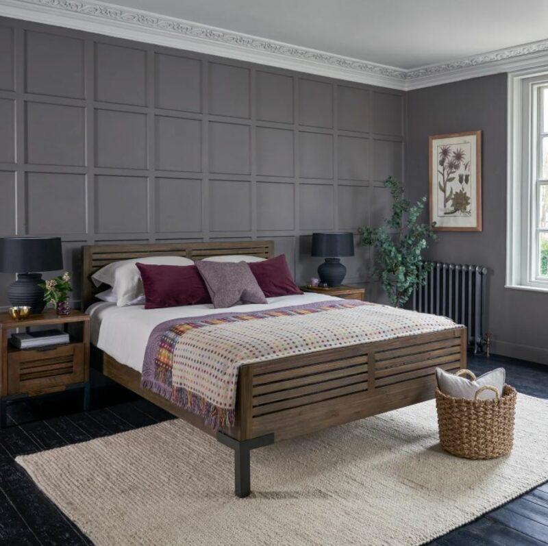 Detroit dark wood oak bedroom