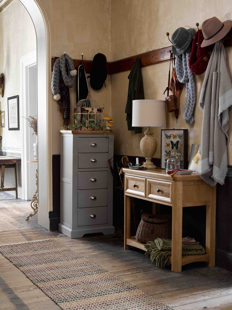 Rustic hallway with furniture