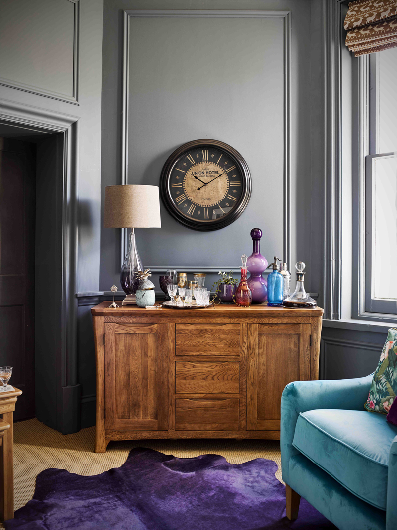 Sideboard with opulent accessories
