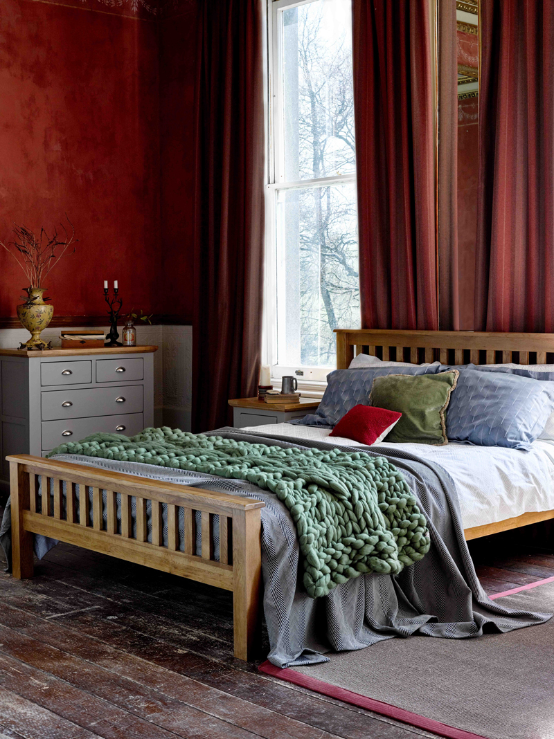 Warm Red Tone Bedroom