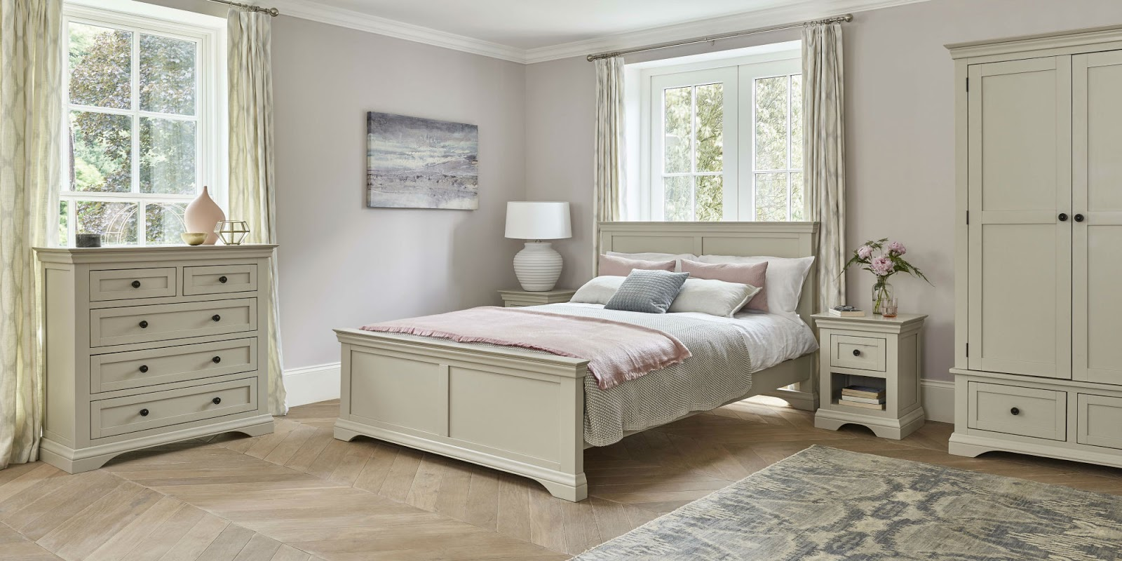 Neutral Toned Bedroom Furniture and Accessories