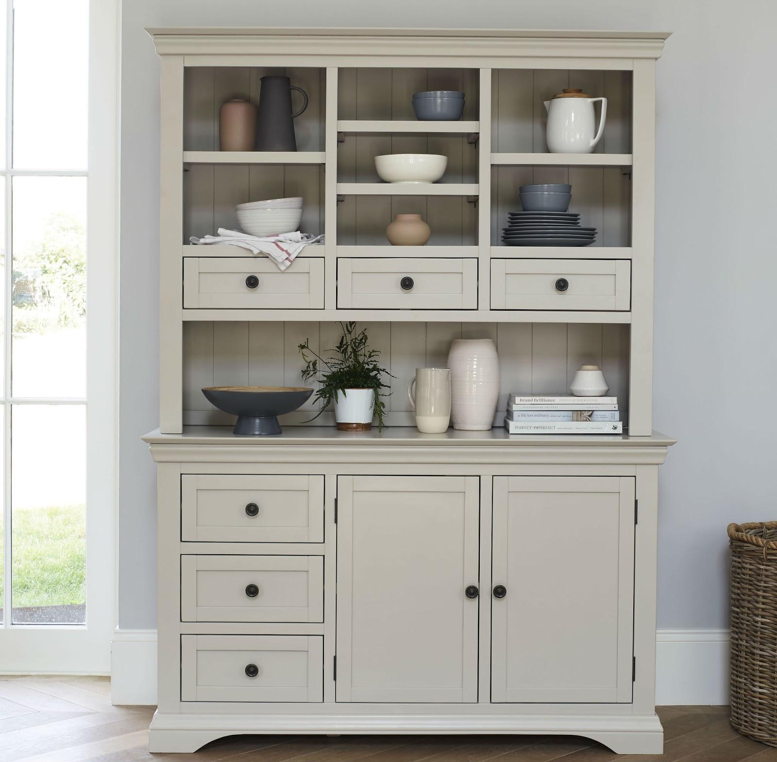 Arlette White Kitchen Dresser