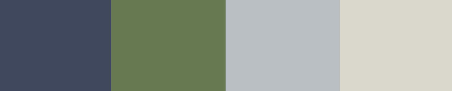 Blue and neutral colour palette