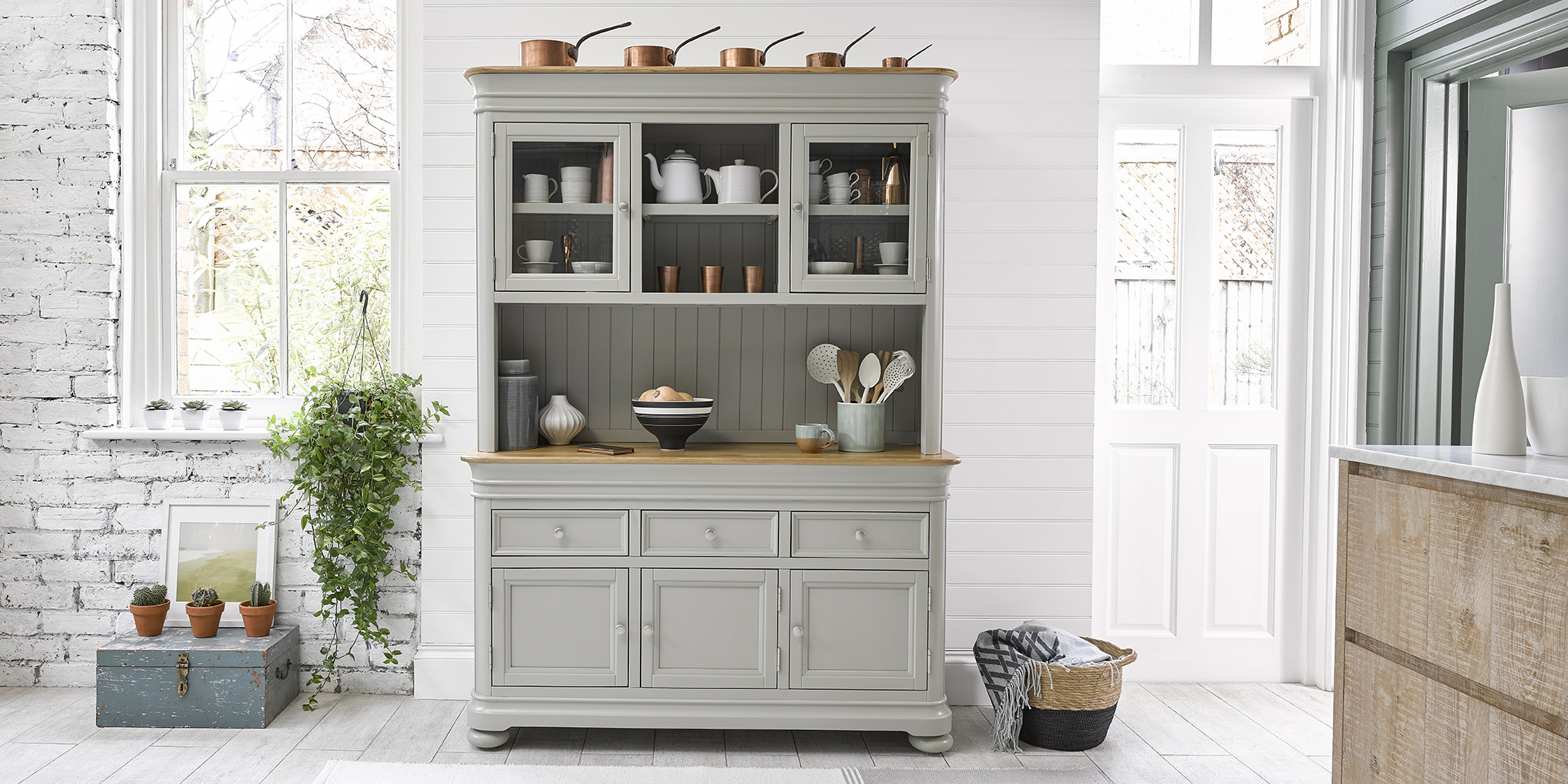 Brindle collection painted kitchen dresser
