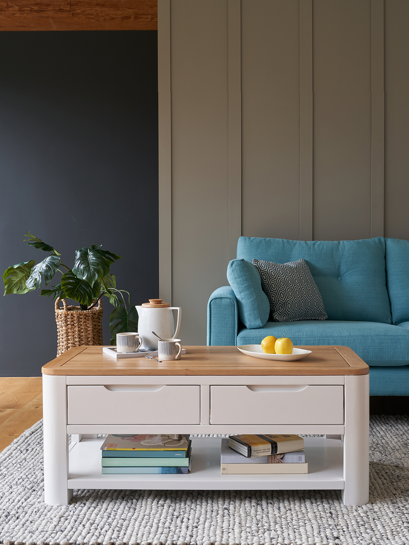 Hove painted coffee table and matching Brighton sofa