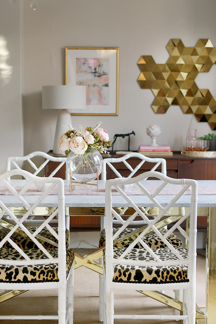 White bohemian dining table