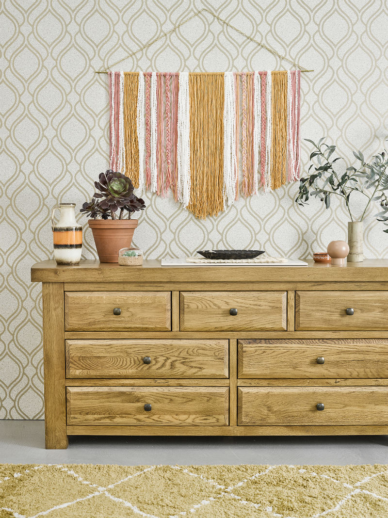 Rustic wood chest of drawers