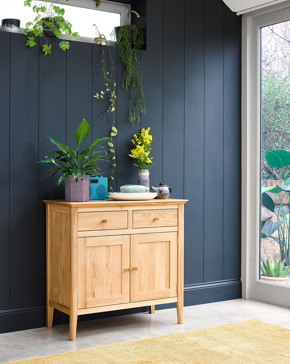 Oak Sideboard in dining room