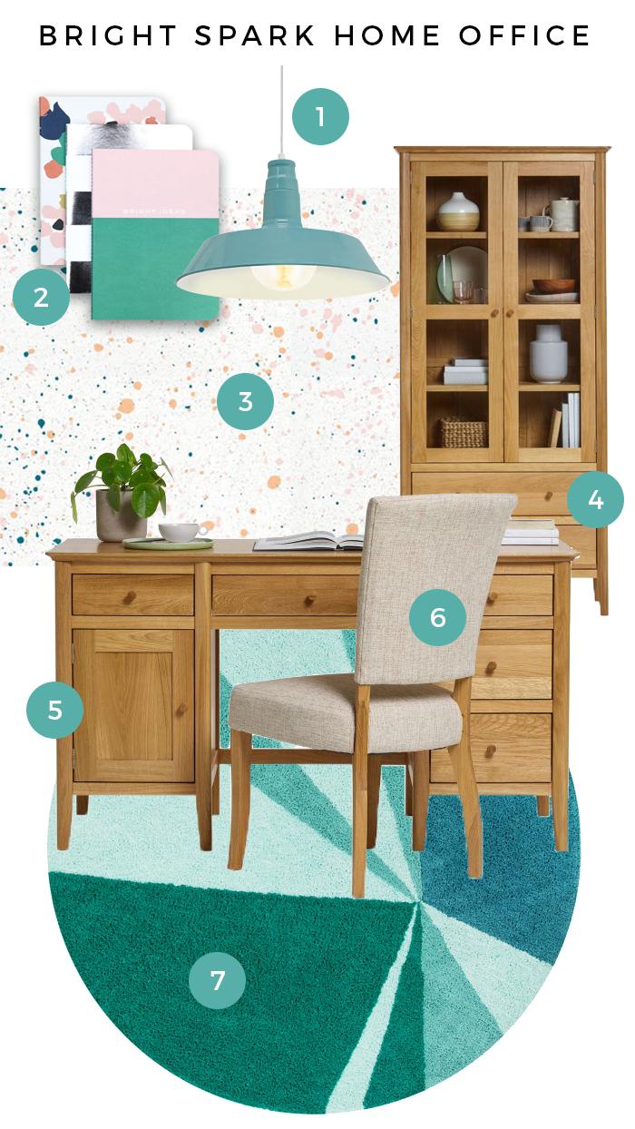 Oslo Bright Spark Home Office Moodboard