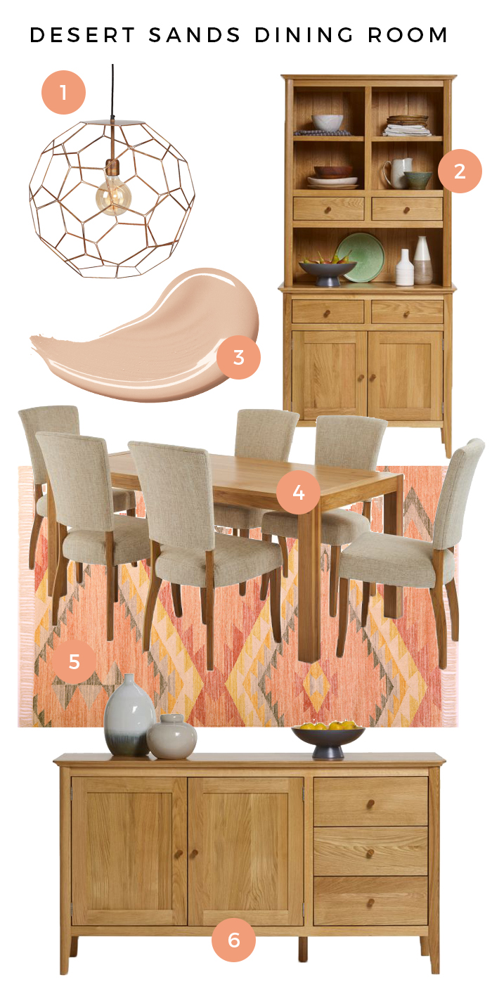 Oslo Desert Sands Dining Room Moodboard