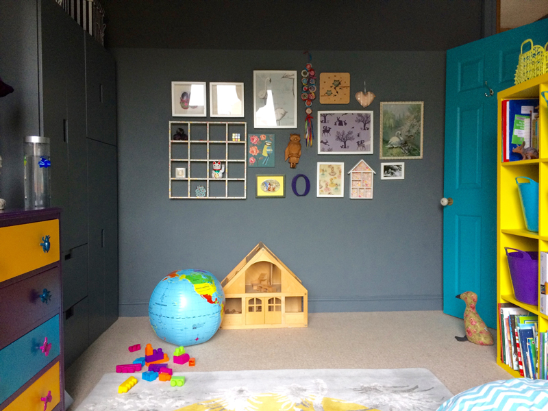 Childrens room with colourful accessories