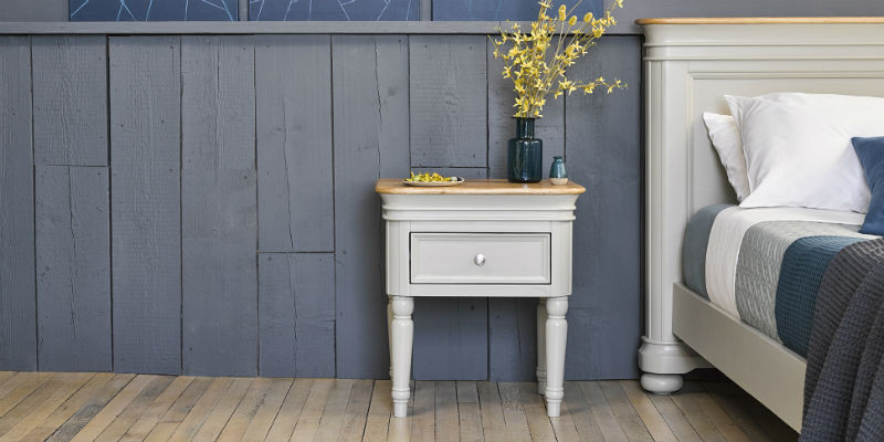 Sage painted bedside table