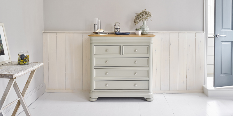 sage green chest of drawers
