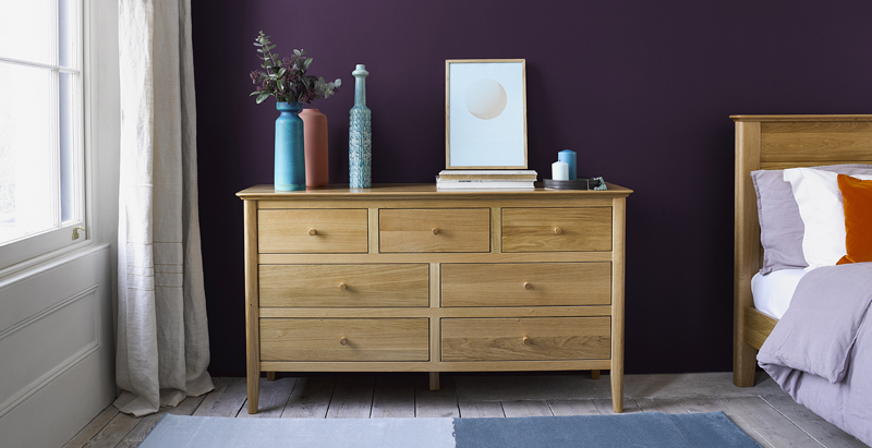 Scandinavian long chest of drawers