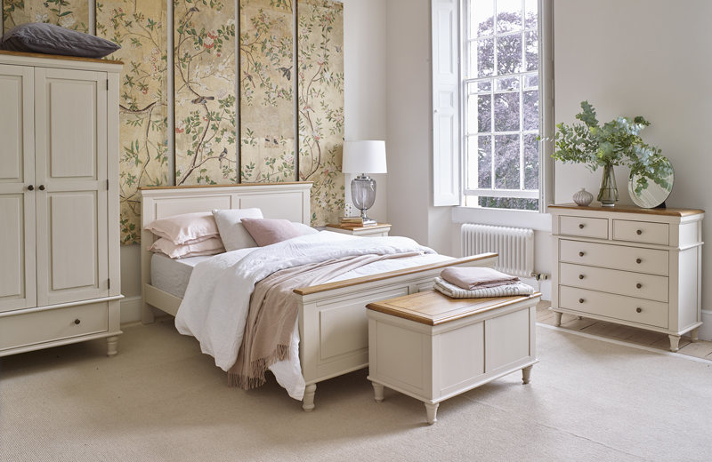 White painted bedroom furniture