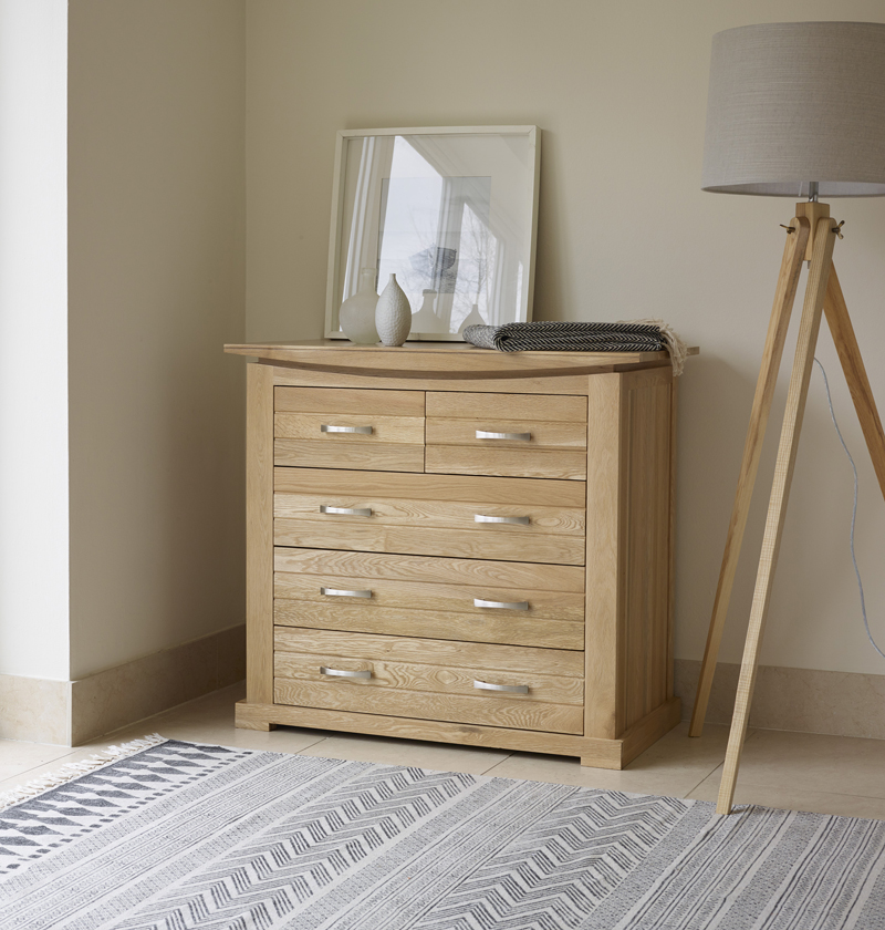 light oak bedroom chest of drawers