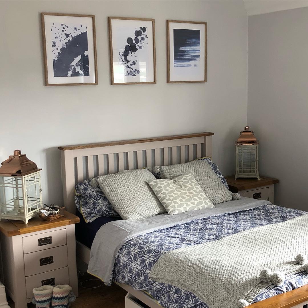 Grey painted bedroom furniture