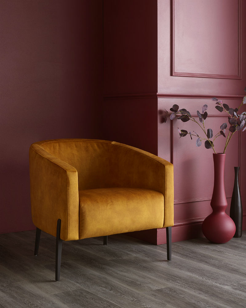 Mustard Velvet Accent Chair
