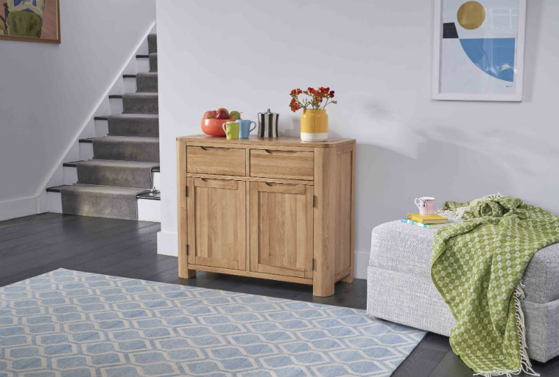 Curved Oak Sideboard