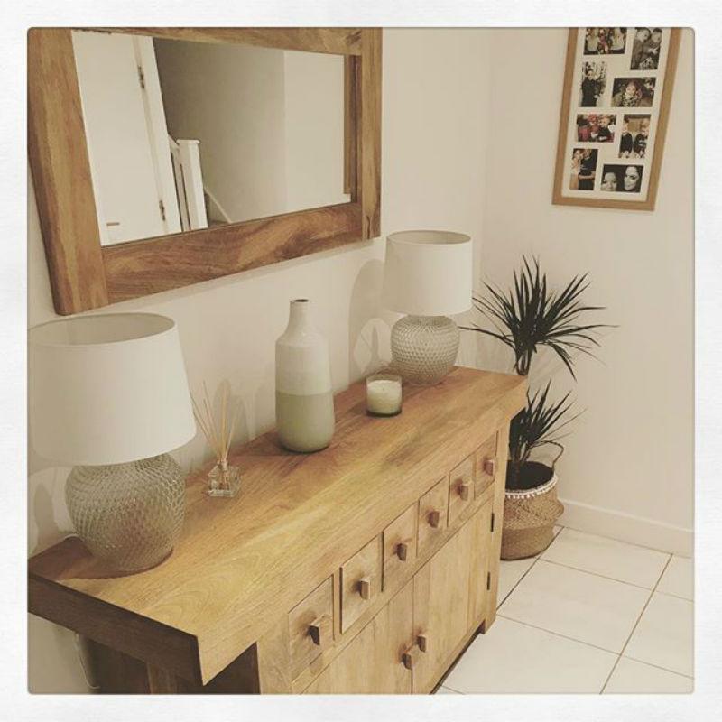 Modern mango oak sideboard