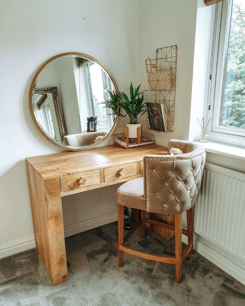 mango oak dressing table