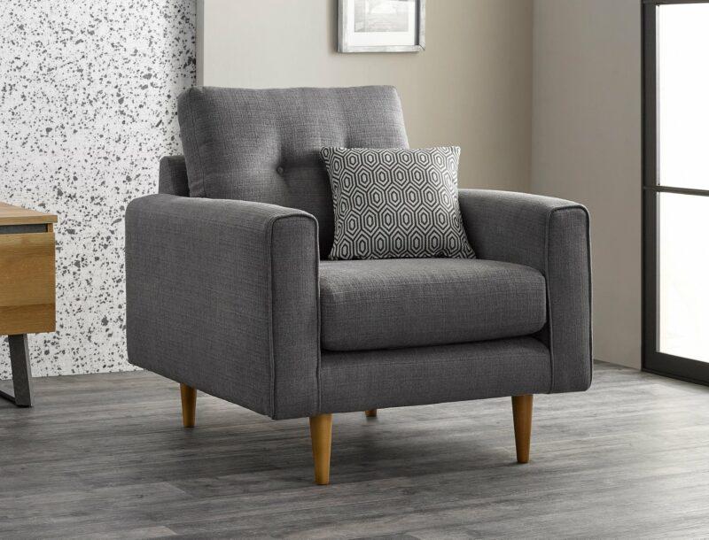 Brighton grey armchair