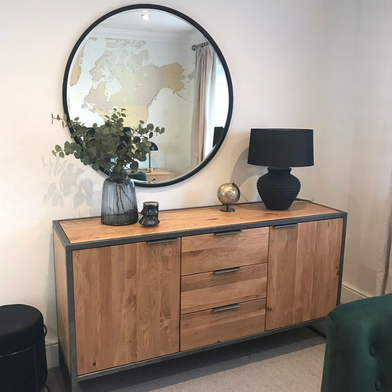 Industrial Sideboard in modern home office