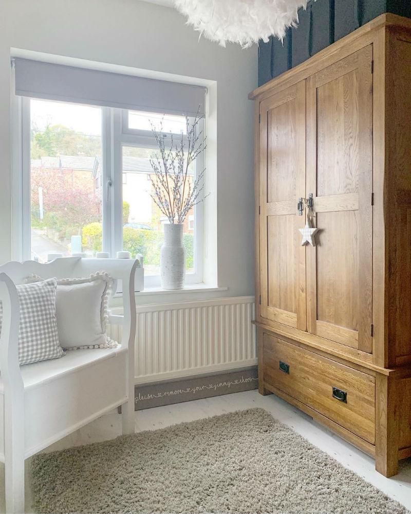rustic oak double bedroom wardrobe