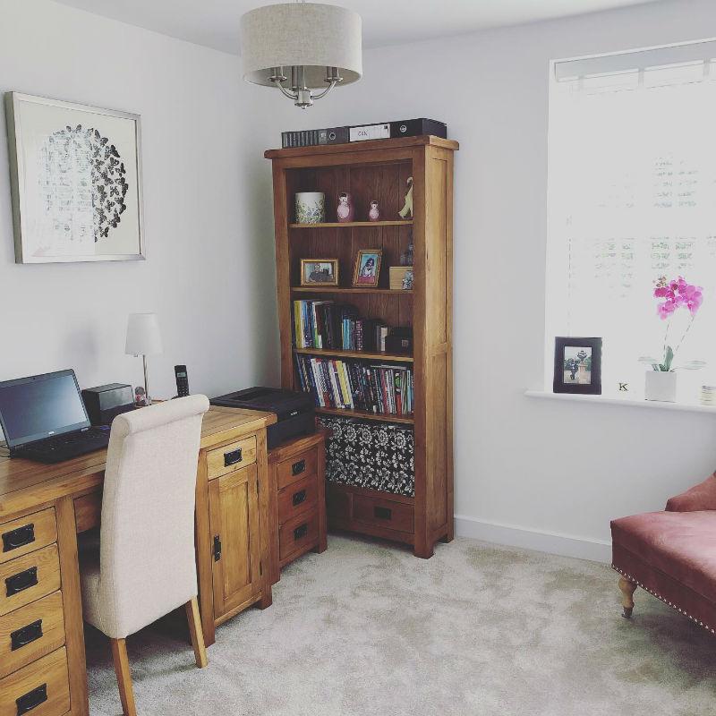 matching rustic oak office furniture