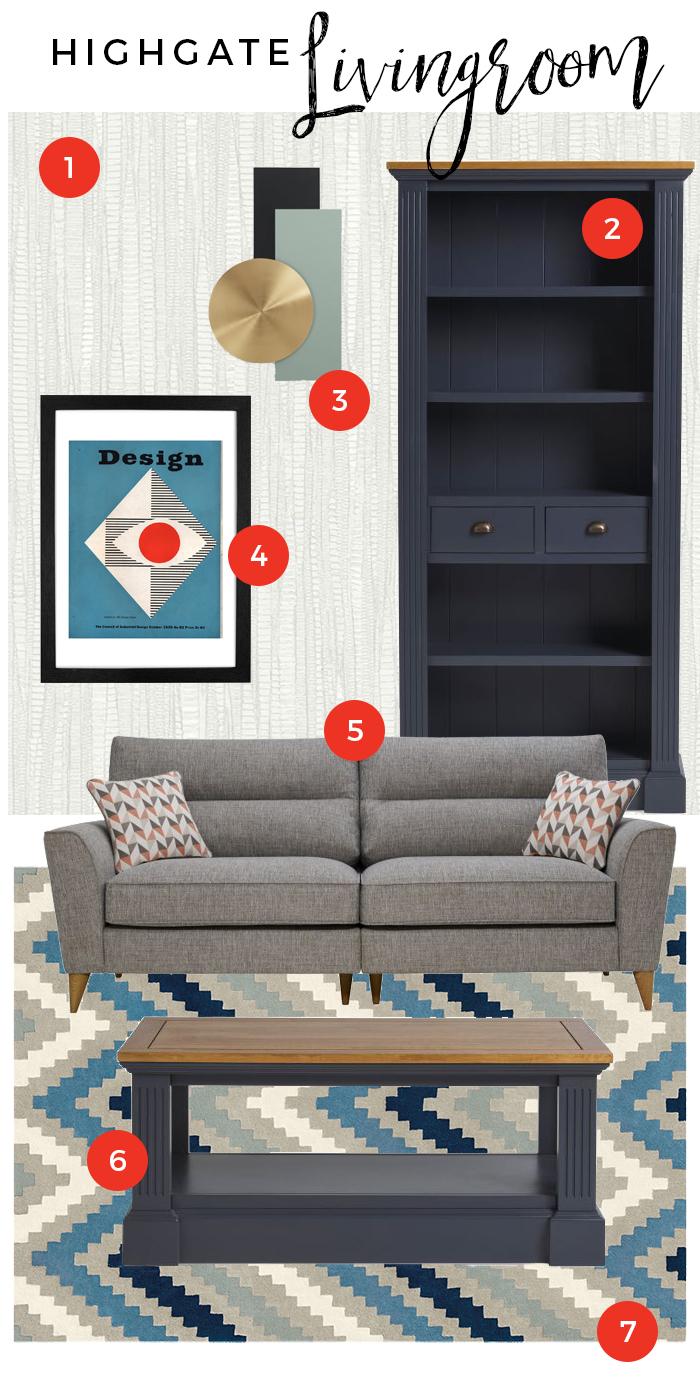 Highgate Living Room Moodboard
