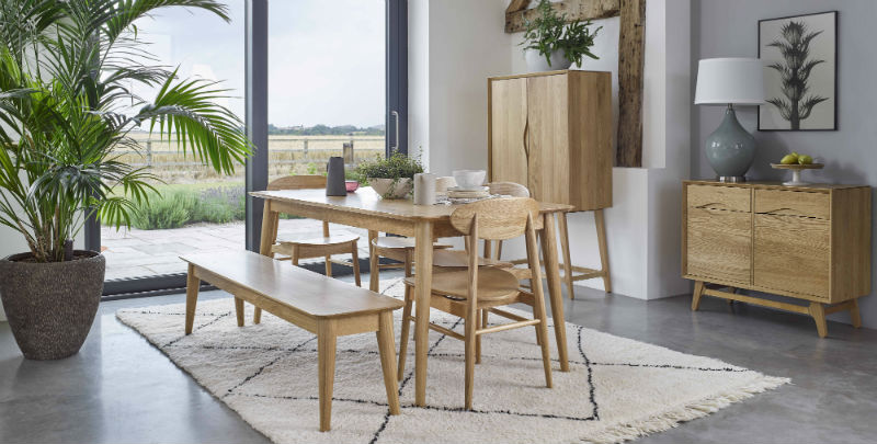 scandinavian style matching dining room furniture