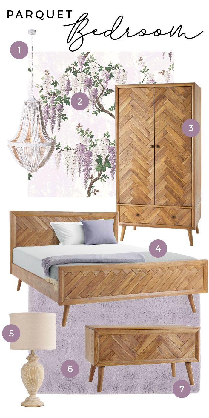 Parquet Bedroom Moodboard