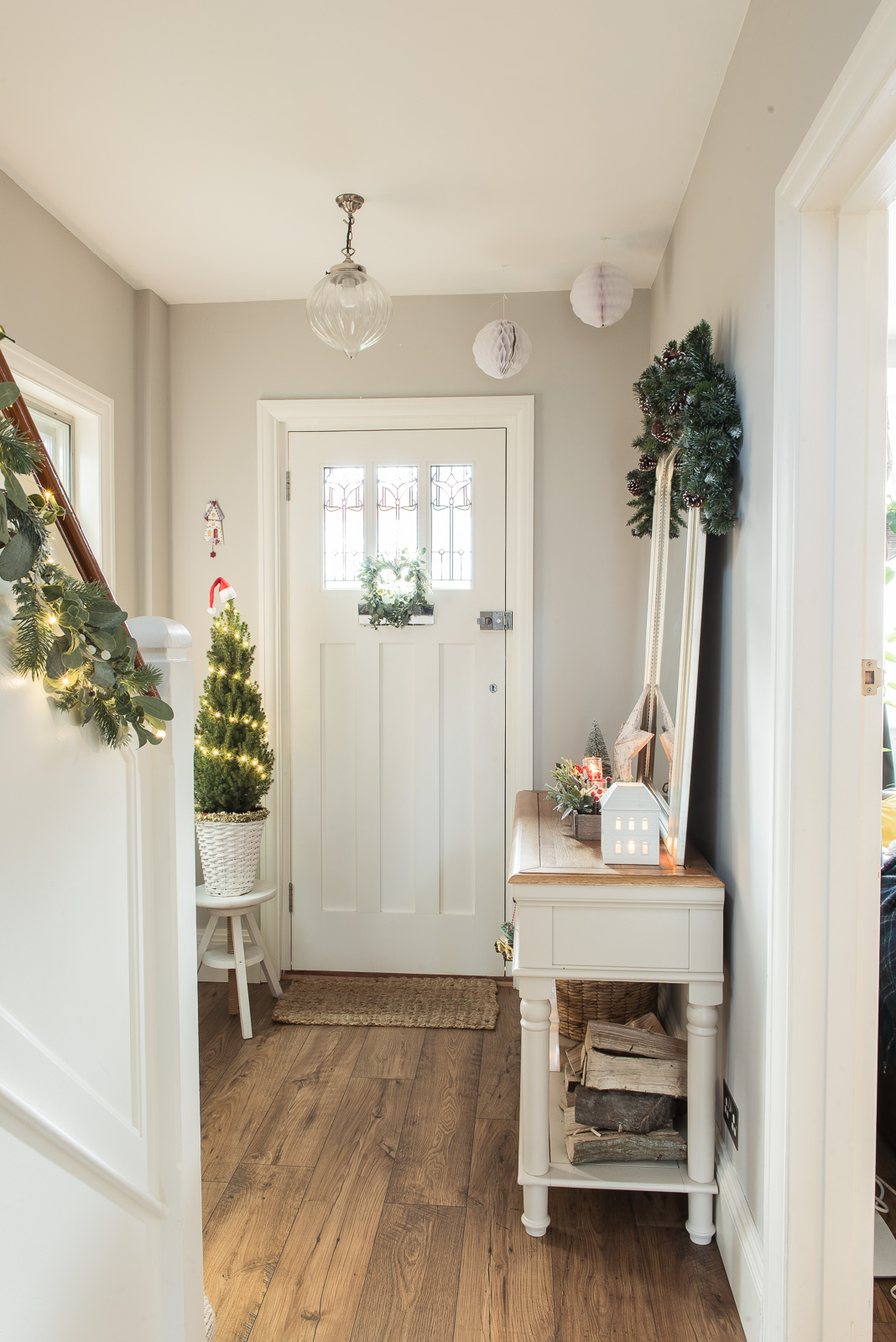 Festive hallway for Christmas